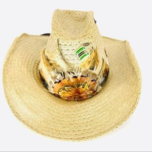 Vintage Cascade Hats cowboy hat with feather band